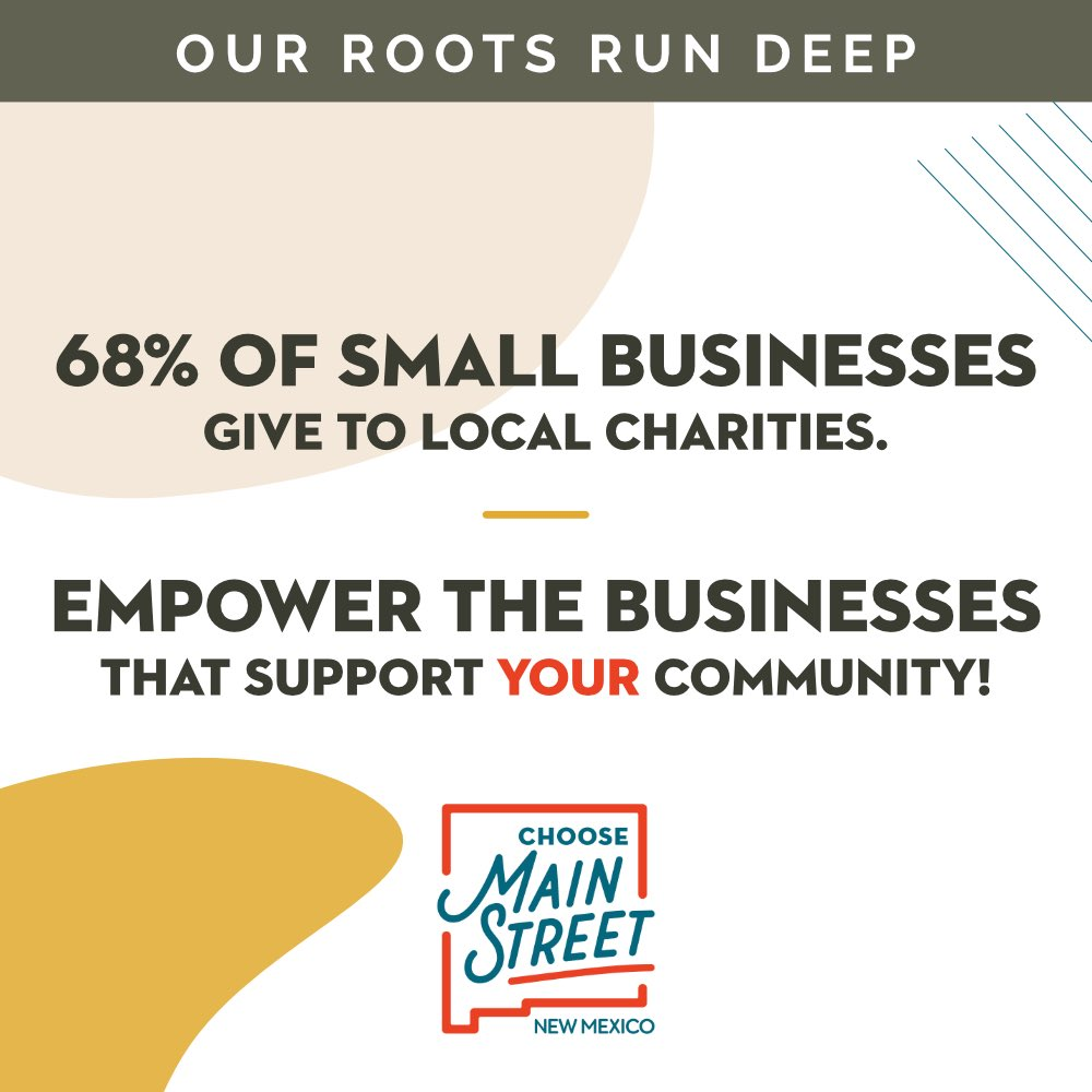 Support the businesses that support where you live!  #NMChooseMainStreet #ChooseMainStreetNM #NMMSLoveLocal #FortheLoveofLocalNM #shoplocal #shoplocalNM #NMMainstreet https://t.co/c9k9tRyvCw