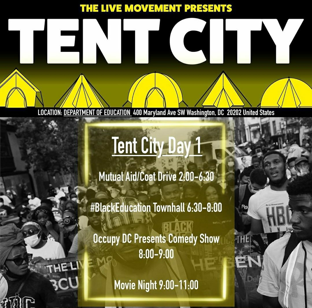 let's #occupy #DOE. schedule of events for today is here, tomorrow's will be announced by @_thelivemovement soon! keep an eye on their socials for more details! https://t.co/rmt5AuTHQa