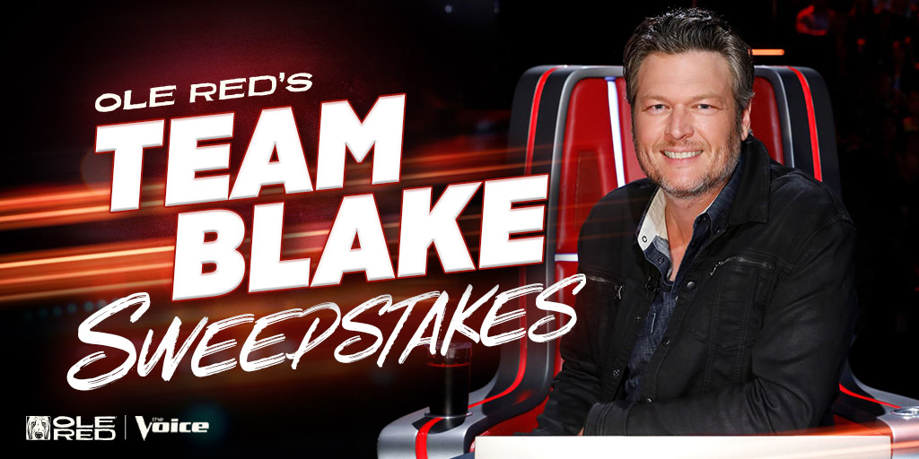 Team Blake all the way! Season 19 of @NBCTheVoice is here and at Ole Red, we're rooting for @blakeshelton, of course. Enter for a chance to win our #TeamBlake prize pack.   Enter NOW!: