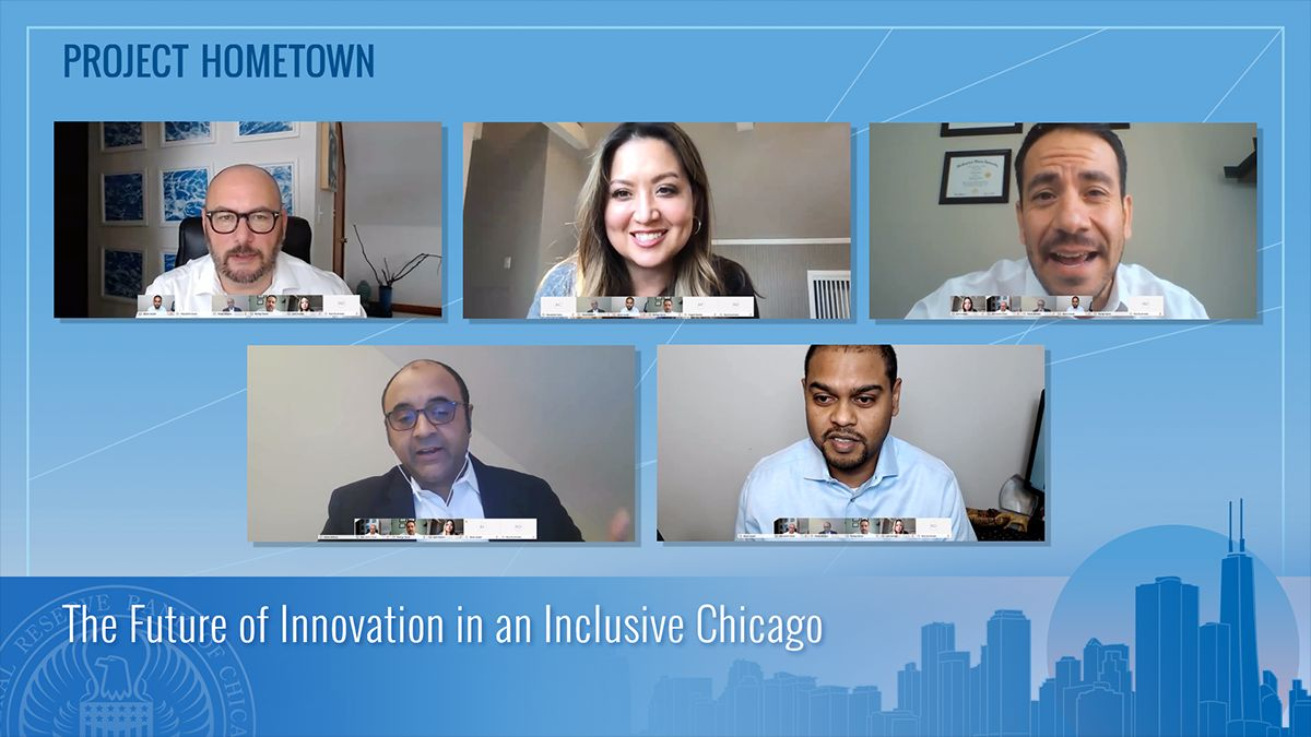 If you missed today's #ProjectHometown event – The Future of Innovation in an Inclusive Chicago, watch a replay at https://t.co/orPIT43RX1.  Hear experts from @ILTreasurer, @greenwoodprochi, @oviohq on how Chicago's history of innovation can continue and include all residents. https://t.co/NFvbURbFrt