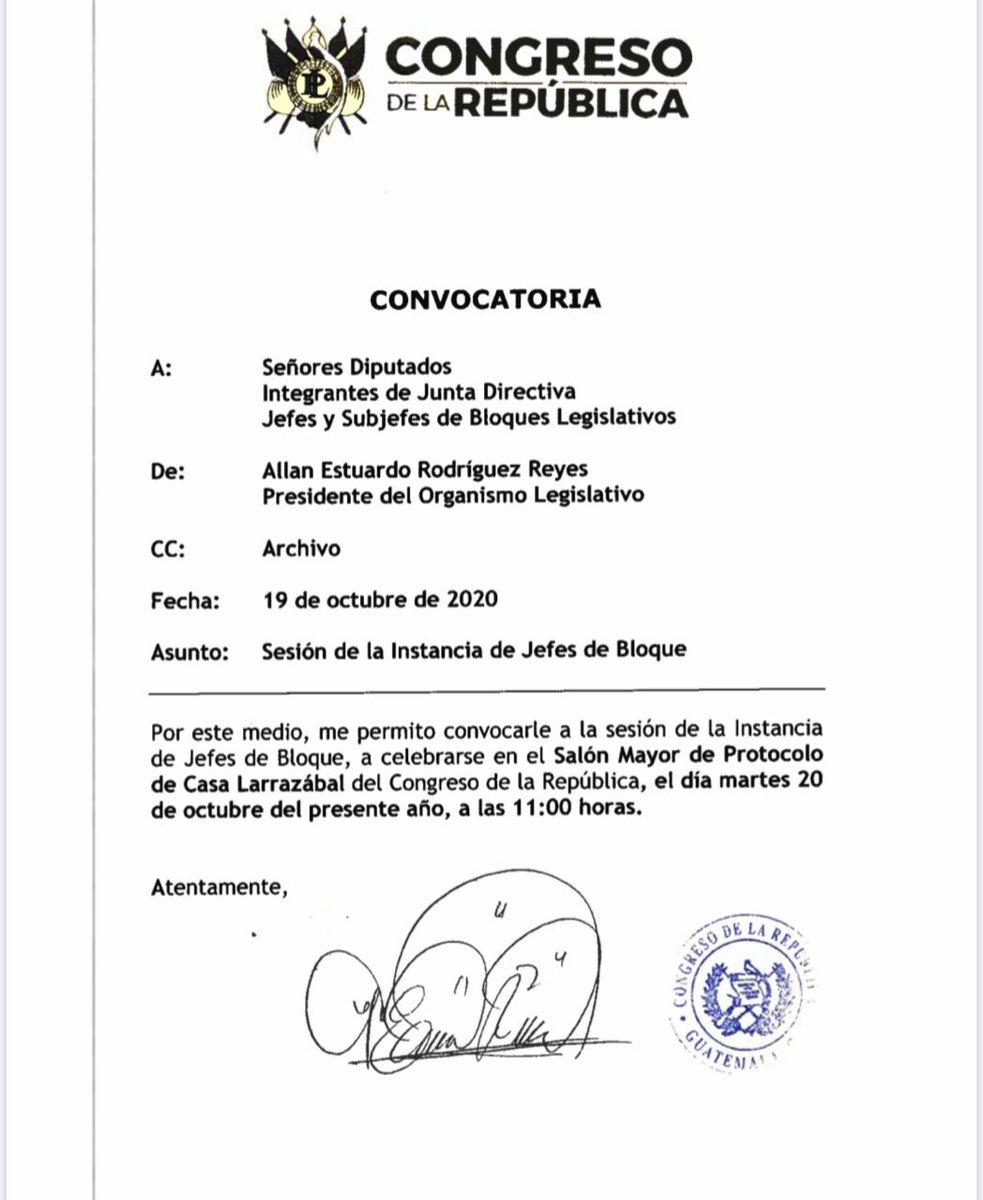 test Twitter Media - En pleno asueto del 20 de octubre, la Junta Directiva del Congreso convocó a la Instancia de Jefes de Bloque a reunión. https://t.co/EtAPTV9IWU