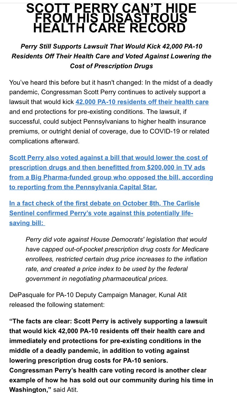 Kunal Atit On Twitter Reminder Repscottperry Wants To Kick 42 000 Pa10 Residents Off Their Health Care And End Protections For Pre Existing Conditions In The Middle Of A Pandemic Pa10 Https T Co Jgwywaefco
