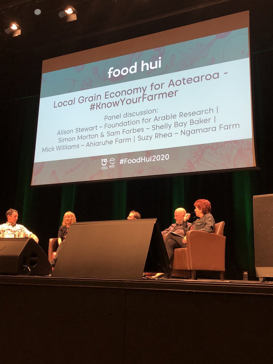 Next session #FoodHui2020 considering a local grain economy for Aotearoa - is it possible? @EatNewZealand #NewZealand #knowyourfarmer https://t.co/LmkAgSY0TR