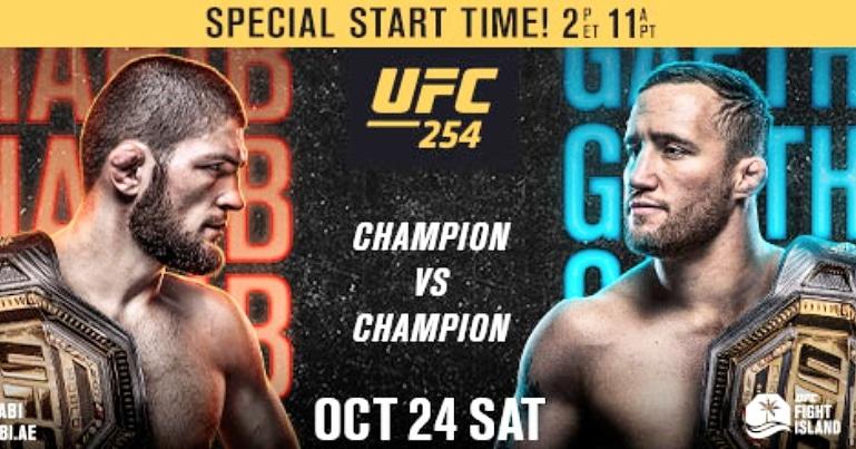 Fight Island Battle For The Undisputed UFC Lightweight Championship. @TeamKhabib @Justin_Gaethje  Saturday, October 24 on Abu Dhabi's Yas Island  2pm ET/11am PT both in English and Spanish  #ufc #yasisland #fightisland #detroit #Boston #mma #kickboxing https://t.co/lsSiq1eS5o