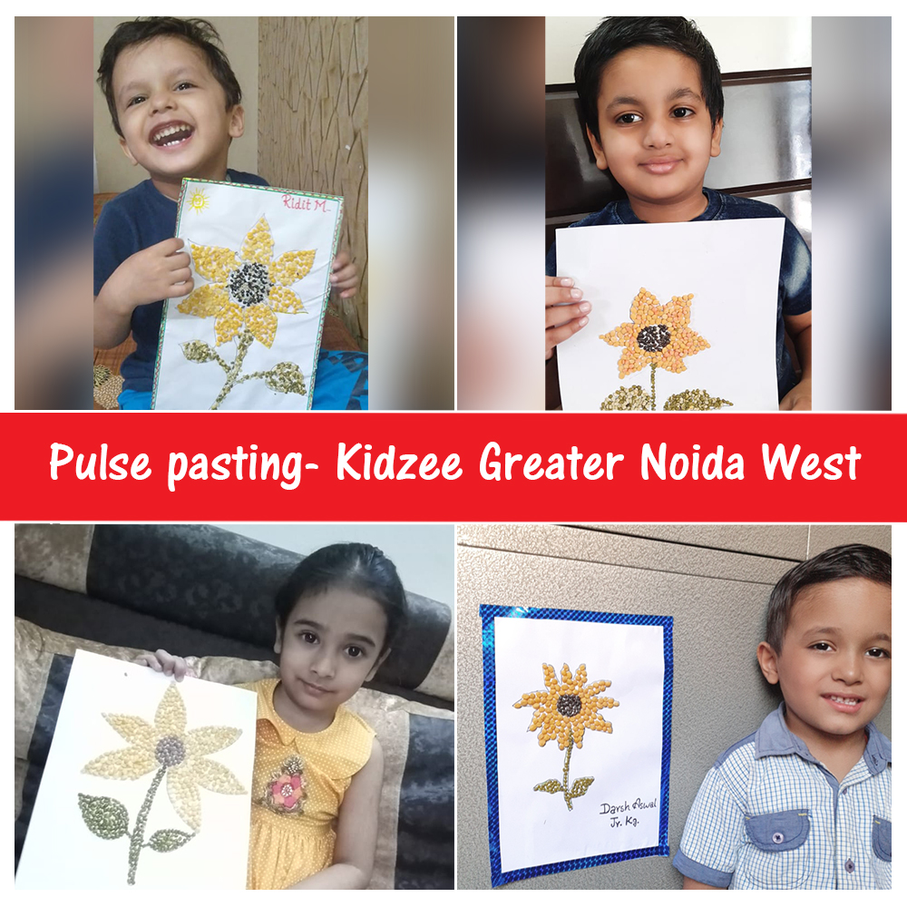 #Kidzee Greater Noida West students created some mesmerizing #art by using a variety of #pulses, that are easily available at home.  The #PulsePasting #activity was thoroughly enjoyed as it also helped the little ones to #learn a new #skill.  #FunLearning #FunActivity #Flowers https://t.co/2qyyJrgY03