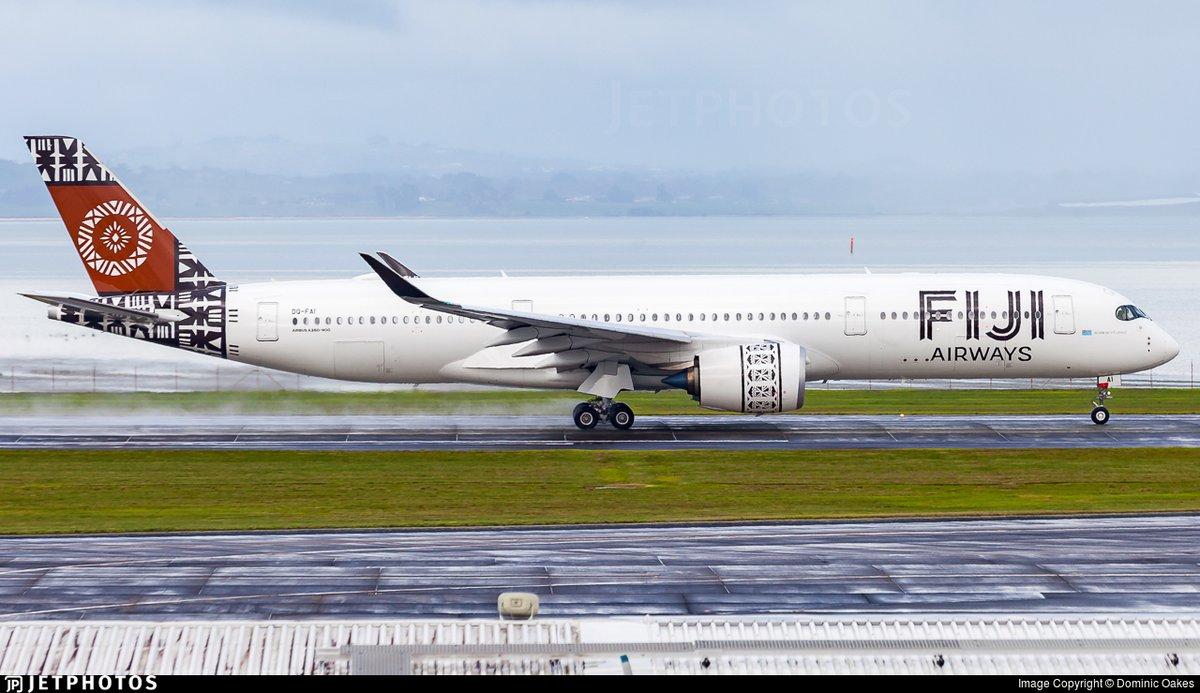 A Fiji Airways A350 departing Auckland. https://t.co/o0JOuD42K8 © Dominic Oakes https://t.co/NtGZY52Clz