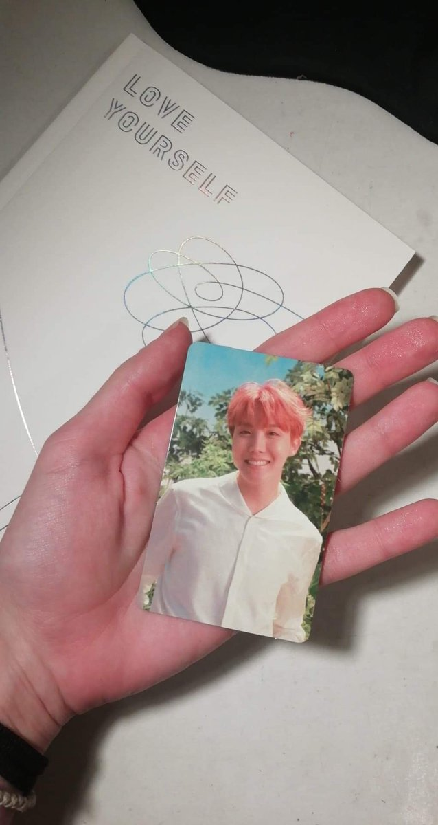 Today I got my first album& I got Hobi as my photocard! I can't express how happy I am! I love Hoseok so much! ❤️ Also 2 out of 3 albums I have gifted to my friends had Hobi in the photocard! Guess I have magic hands✨✨ 호비 사랑해😭🌞🌻 #jhope #junghoseok #hoseok #bts #BTS_BE https://t.co/0oHvjbeSSH