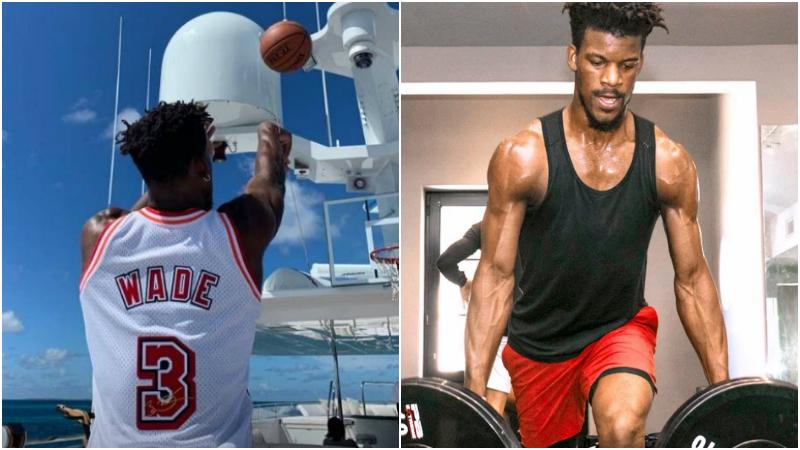一天都不休息!Butler身穿韋德球衣度假,在遊艇上仍練習投籃!