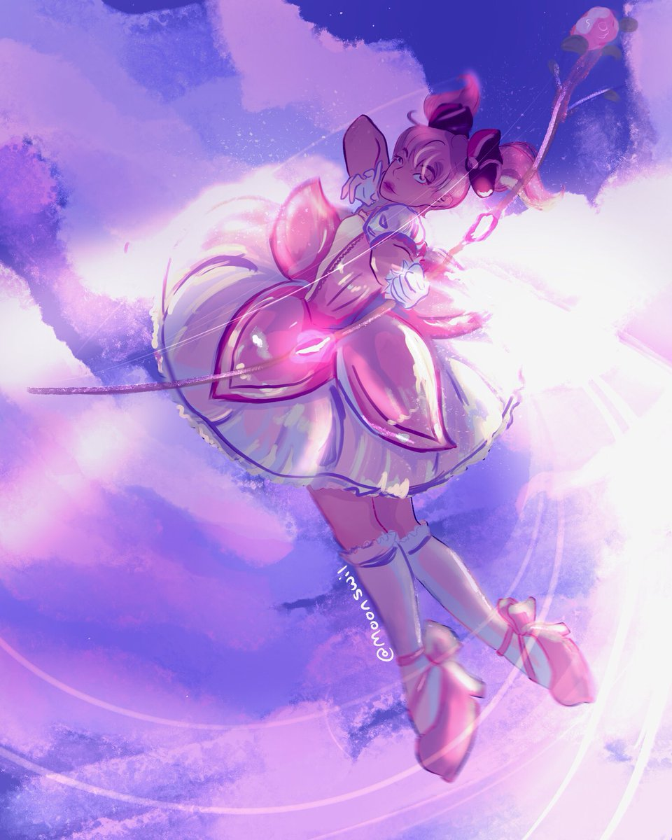 this is really messy and weird looking to me and for some reason it's 15mb so I'm posting a screen shot idk what I did to it but i kinda wanna post it so have my Madoka!!#puellamagimadokamagica #animeart #magicalgirl #MadokaMagica #fanart https://t.co/FbiiSENB4l