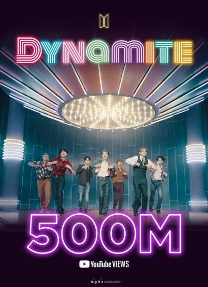 Armys let's keep making History with Dynamite Let's go for more records Dynamite is the perfect song for those difficult moments in life it is the perfect song to be happy in a few    #Dynamite500M #BTS_BE #BTS_Dynamite  @BTS_twt https://t.co/i3JOPJ3STM