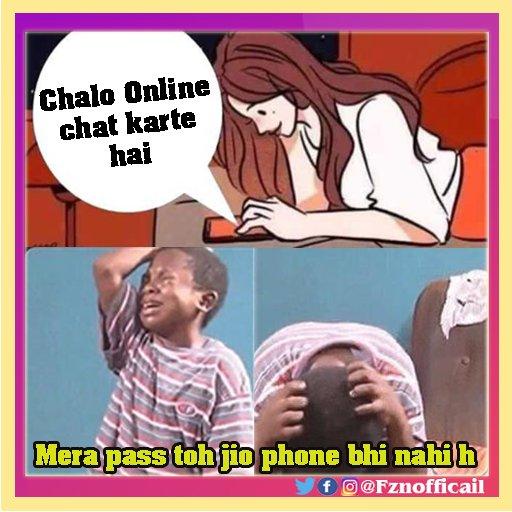 Mera pass toh Jio phone bhi nahi hai🤣🤣 . . . . . . . #girlfriend #boyfriend #onlinechat #chating #girlfriendmemes #girlfriendmeme #memeupdate #instagrammer #instagrampage #memepage #instagram #memefactory #memepost #memes😂 #latestgfmeme #gfmemes #gf https://t.co/ehc3HFRXRq