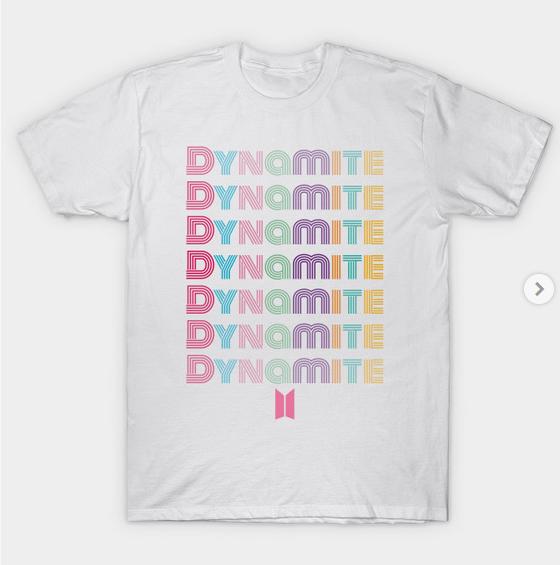 BTS DYNAMITE T-Shirt https://t.co/Ma9z2mgzsc   #BTSMerch #BtsShirt #BTSApparel #Dynamite #MapOfTheSoulOne  #방탄소년단 #BANGTAN #BTSARMY #BTS_Dynamite #Dynamite500M https://t.co/M1VQlz6EDx