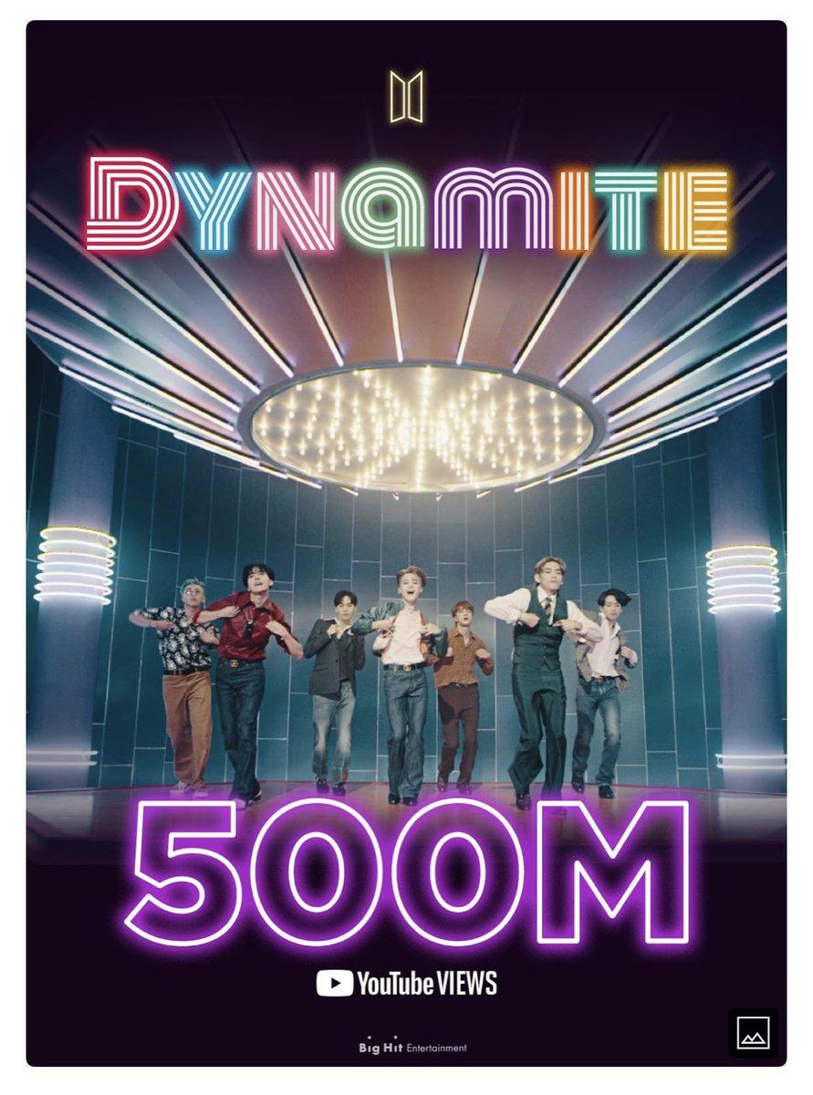 축하해!! 7방탄 모두 자랑스러워요 #Dynamite500M #BTS_twt https://t.co/rx6fWZeoub