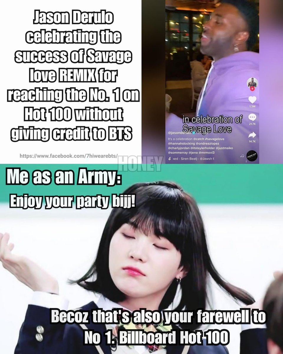 LOL  armys be like !!! #BTS_BE #BTSWEEK #BTS #BTSARMYS #BTS1onHot100 #bts  😂😂😂😂 #JasonDeruloIsOverParty #jasonderuloiscancelled https://t.co/8llH6NacG1