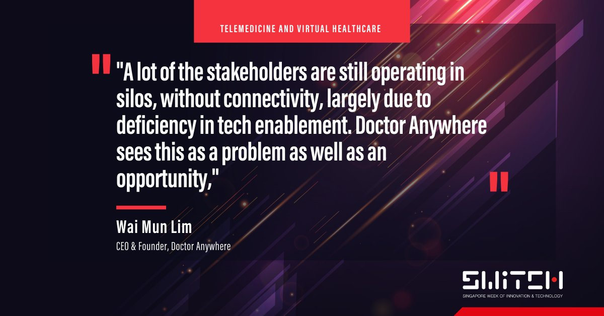 ⭐️Hear from CEO and Founder of #telehealth startup Doctor Anywhere, Wai Mun Lim, and a brilliant lineup of speakers at #SFFxSWITCH! 💥Get your pass today: https://t.co/kZm2t2ZPQa   📍Read more about Doctor Anywhere in this @businessinsider article: https://t.co/4Oyw1On6bQ https://t.co/jZv1nrnD7o