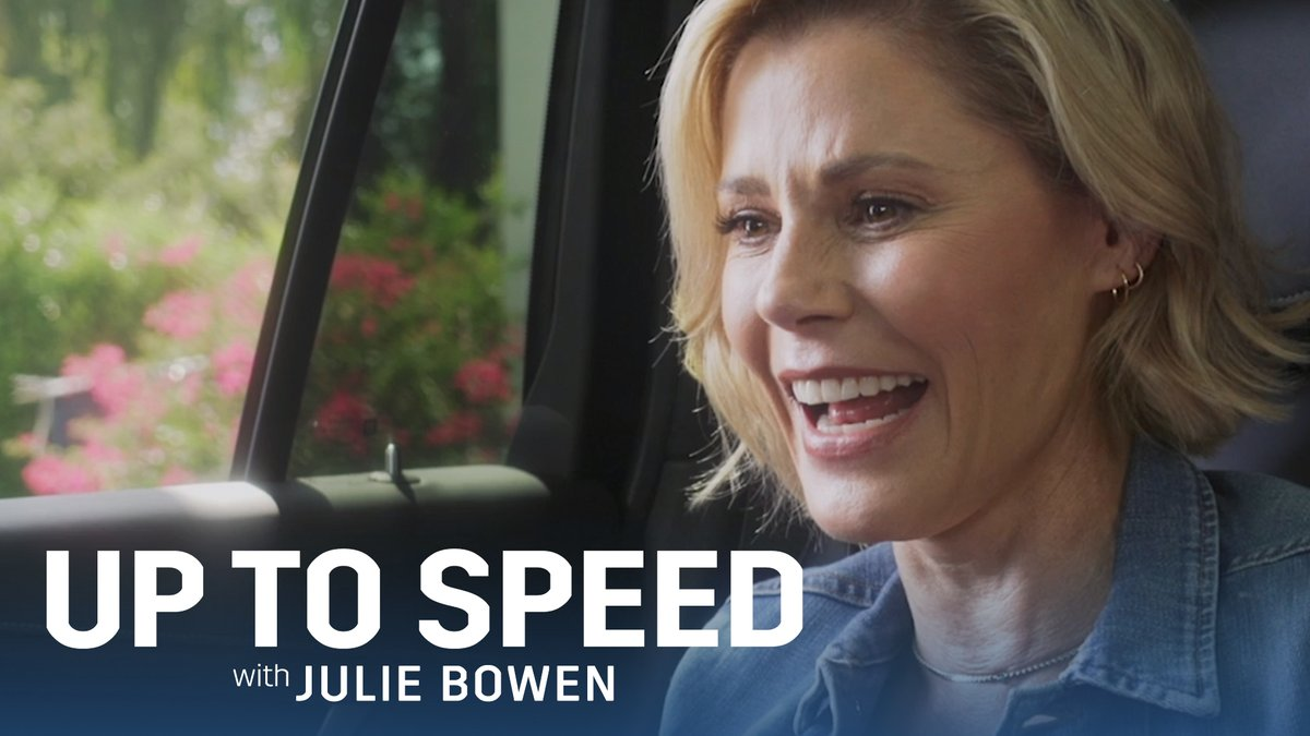It's Baltimore's finest on #UpToSpeedwithJulieBowen ! Kick back with @itsjuliebowen and @lancereddick in the new @Cadillac #XT6. #ad  #NottsLaughs
