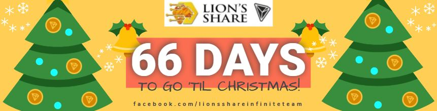 🎄66 DAYS TO GO 'TIL #CHRISTMAS! Are You Not In #LionsShare Yet? If you are, then you are on your way to making this coming #HolidaySeason and the #NewYear 2021 - MERRY and BRIGHT with your #TRONLINK WALLETS OVERFLOWING!! 🎁💰💵  #tron #trx #forsage #lionshare #smartcontract #eth https://t.co/3As6oZYLFy