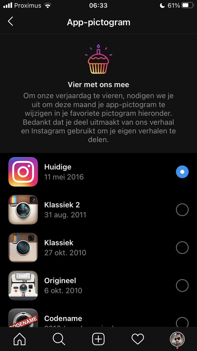 test Twitter Media - Icoon van Instagram veranderen op je smartphone? Ga naar Instellingen en scrol naar boven! 👆👆👆 #instagram #easteregg #birthday https://t.co/BPYebGJTBA
