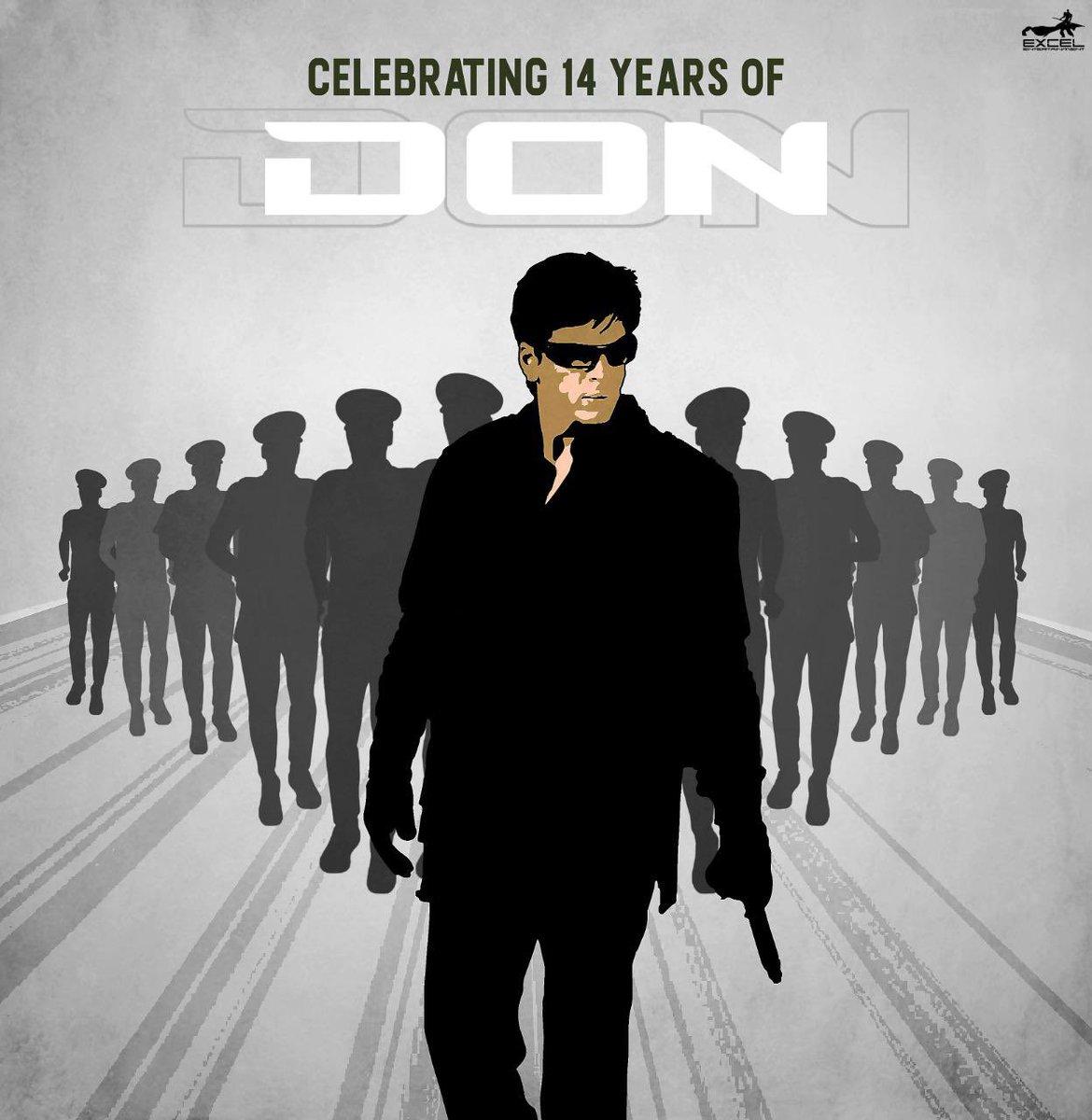 Looking back at the action, thrill & chase that began 14 years ago. Here's celebrating #14YearsOfDon  @iamsrk @priyankachopra @bomanirani @rampalarjun #KareenaKapoorKhan @ishakonnects @FarOutAkhtar @ritesh_sid @Javedakhtarjadu @ShankarEhsanLoy #KUMohanan  #Don