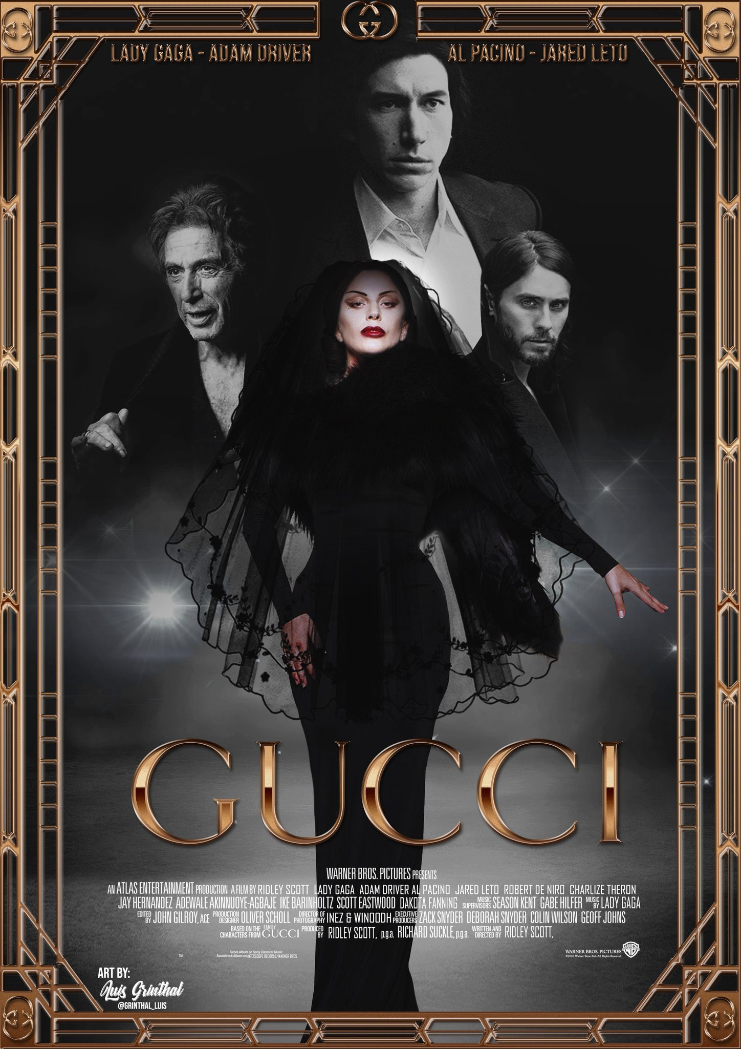 """Lady Gaga Charts on Twitter: """"""""Gucci"""" starring Lady Gaga starts filming  March, 2021 in Italy.… """""""