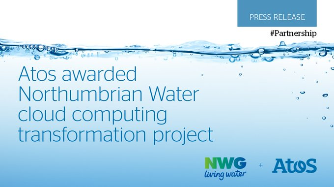 Atos announce framework agreement with @NorthumbrianH2O to lead #cloudcomputing transformation p...