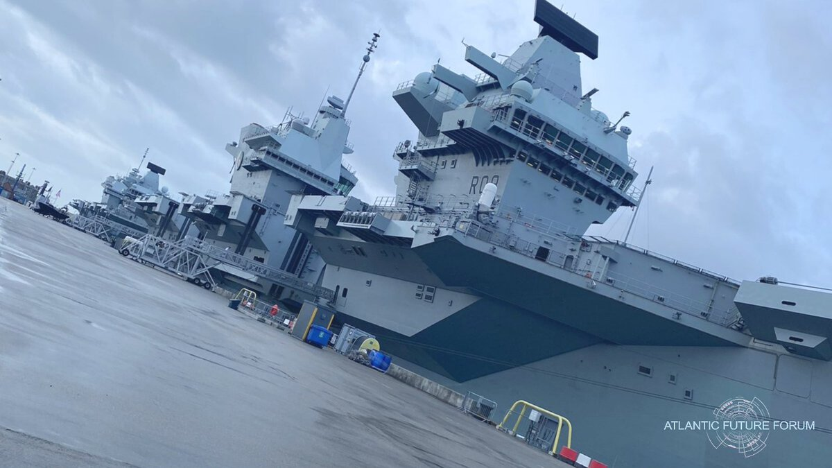 Although #AFForum2020 is hosted on board HMS QUEEN ELIZABETH, we have been warmly welcomed by the city of Portsmouth where she is docked. The forum begins today. @HMNBPortsmouth @PennyMordaunt @PortsmouthProud @StephenMorganMP @HMSQNLZ