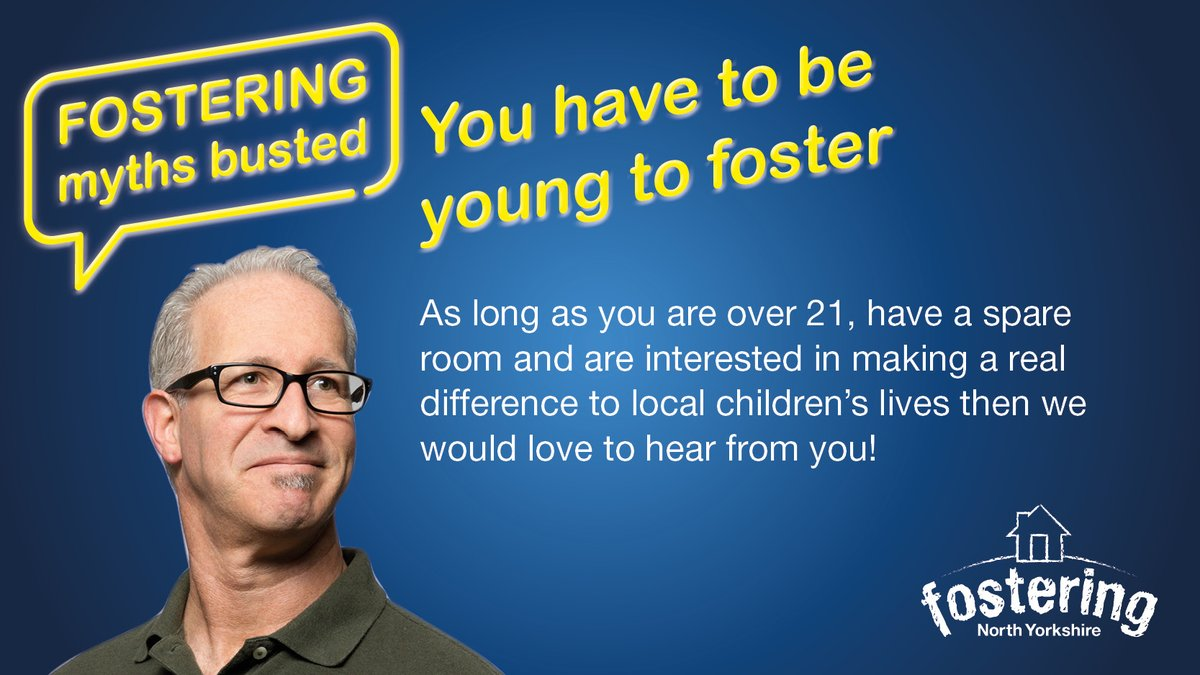 Think you're not fit to #foster because you're retired?   Think again! You could be fitter than you thought. #ThisIsFostering   Find out more about #fostering in #NorthYorkshire  https://t.co/f03UrhLXcm https://t.co/QHe8OUcBdC
