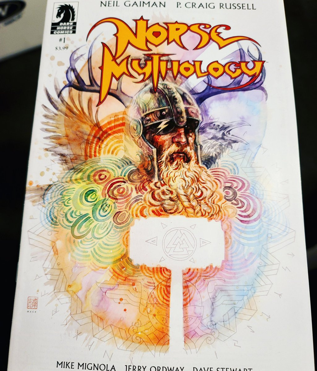 Jesus' #coveroftheday is Norse Mythology #1 by P. Craig Russell! This book looks amazing!  Norse Mythology #1 is written by @neilhimself and P. Craig Russell. Interior art is handled by P. Craig Russell, @artofmmignola and @JerryOrdway. It released on October 7, 2020. https://t.co/saMFNwfJWt