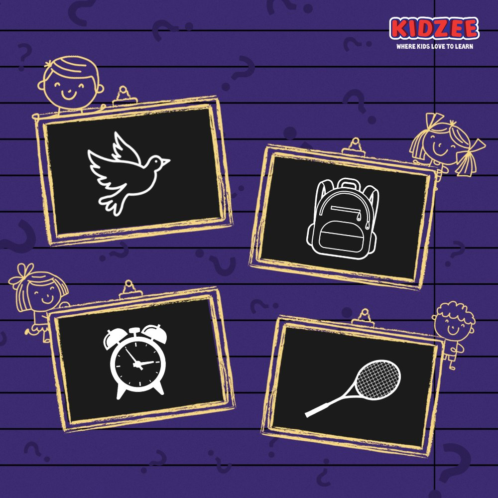 Madame Zoya made some beautiful drawings on the blackboard.  Can you guess what she has drawn?  #Kidzee #KidzeeStudents #Learning #LearningAtHome #FunLearning #Words #Recognition #Images #Drawings #Blackboard #Objects #Identify #Activity #FunActivity #Creativity #Productivity https://t.co/yQIX6wdEsX