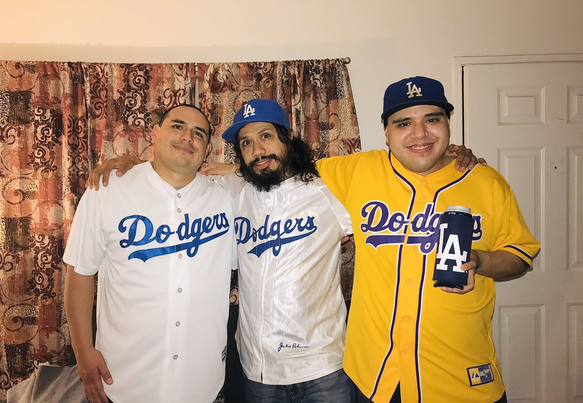 The three hermanos excited to see their @Dodgers World Series bound again! 😄 Let's bring another 2020 championship victory to L.A.! ✨ LET'S GO DODGERS!! 💙⚾️ #Dodgers  #WorldSeries #FourMoreWins #LATogether  #LAForever #LoveMyFam #DodgerFam #WereInThisTogether #October2020 https://t.co/dHTJuej0P2