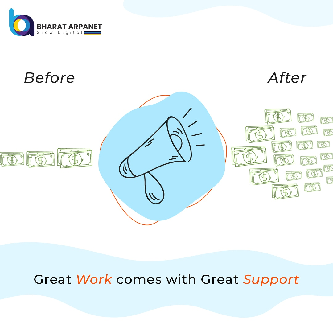 Great work comes with great support....Get Digital Marketing Support to grow your Business.  #Bharatarpanet #digitalmarketing #marketing #marketingstrategy #marketingagency https://t.co/VboGhYpXvq