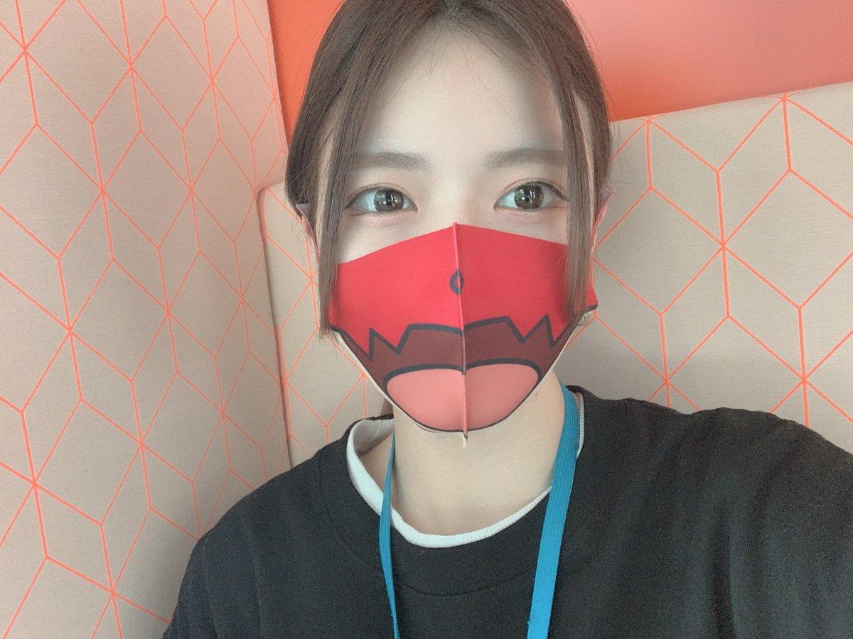 🎃HALLO! NEW HALLOWEEN! SHIBUYA🎃プロジェクトのモンストオラゴンマスク✨2枚目のマスクは販売されるハロウィン🧟♀️マスクだよ!2つともサラサラでいい感じ☝️💗#集まらないハロウィン#マスクで毎日ハロウィン#あたらしいハロウィン