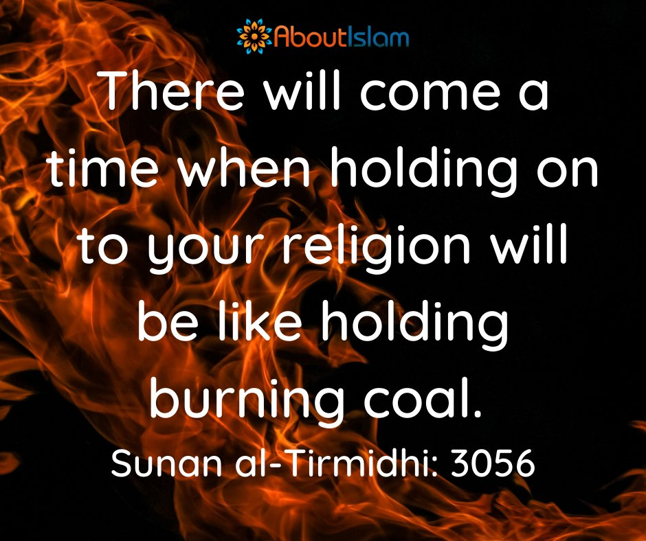 It's difficult, but keep holding on!   #Hadith #islamicquotes #Islam https://t.co/TngsRcXIH9