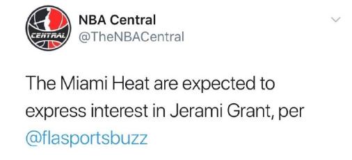 金塊你慌了嗎?繼湖人之後,熱火也加入搶人大戰中,小將Grant成香餑餑!-黑特籃球-NBA新聞影音圖片分享社區