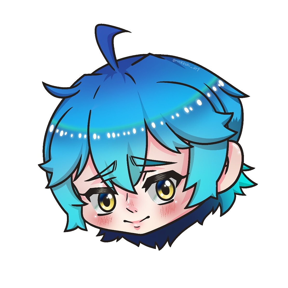 🇯🇵💫It's not the Inktober but I wanna post this anyway, the baby boy is back but even cuter~ 💫🇯🇵 · · · 💙🔪KYOKI MENTARU🔪💙 #drawing #paint #art #illustration #digitalart #digitaldrawing #animedrawing #chibi #chibidrawing #cute #shy #smile #babyboy #oc #mystyle https://t.co/7v6S49QODI