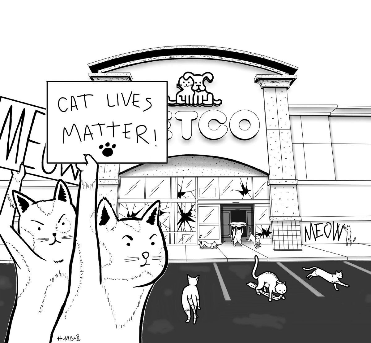 Cat Lives Matter #blm #BlackLivesMatter #catlivesmatter #riot #kitties #politicalart #ArtistOnTwitter https://t.co/6TE6y40owg