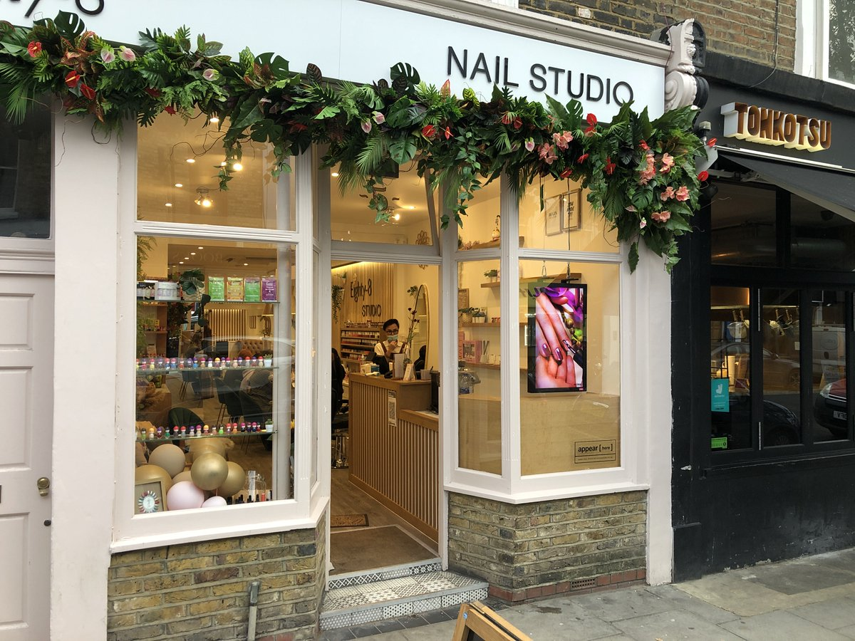 Delighted with our install yesterday at Eighty-8 Nail Studio in #Nottinghill ! #Nailbar #creative #Design #Studio #Advertise #Animation #Specialoffers #londonislovinit https://t.co/fIPfhXAyWh