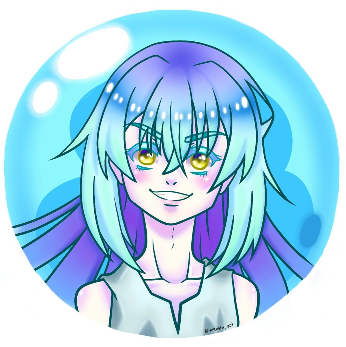 🔵🌟I'm not a bad slime!~🌟🔵 · · · 🔮RIMURU TEMPEST🔮 #drawing #paint #painting #digitaldraw #illustration #animedrawing #animeart #boy #girl #nogender #slime #thattimeigotreincarnatedasaslime #thattimeigotreincarnatedasaslimefanart #fanart #smile #happy #confident #mystyle https://t.co/ybVR3VbIE9