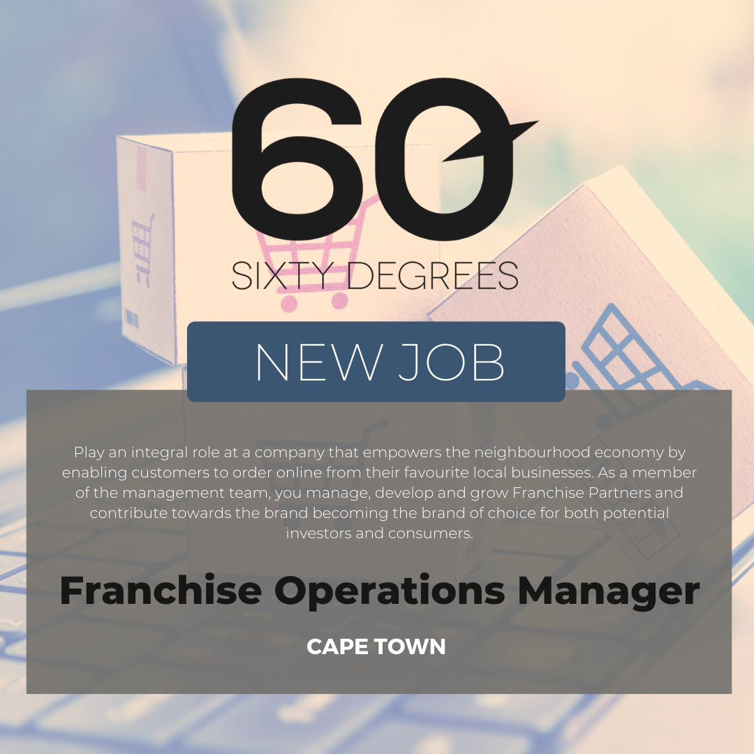 test Twitter Media - New #JobAlert - Franchise Operations Manager in Cape Town  For more information & to apply, please click on the link below;  https://t.co/Tf19FIWJdu  #60Degrees #60DRecruiter #60Droles #operationsmanager https://t.co/UCAaGCAb2L