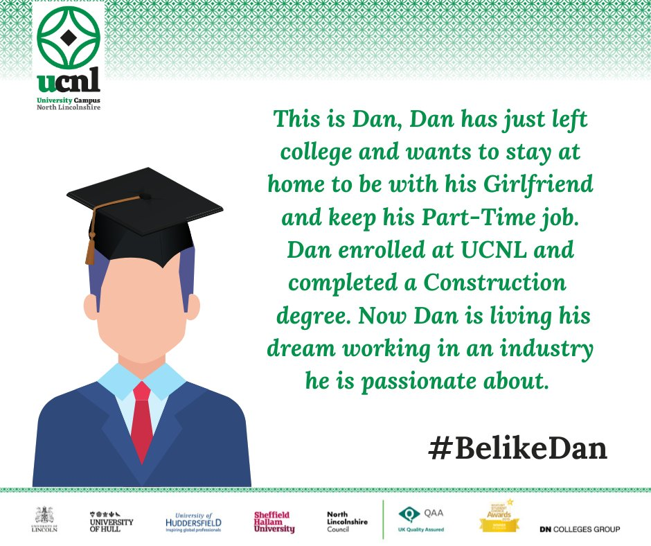 It's still not too late to enrol for this academic year, so you too can #BelikeDan #weareUCNL #whatsstoppingyou #futureself #Epicinthree https://t.co/gX7YpYT3Mh