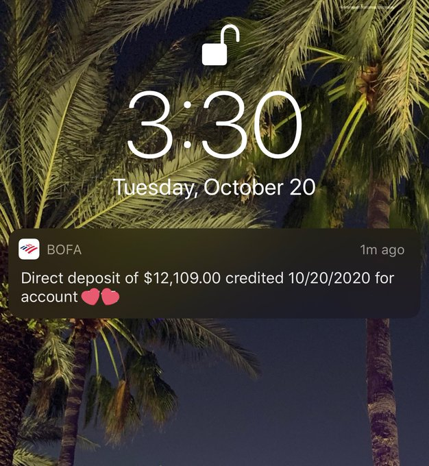 I love my weekly 5 digit deposits 💫 https://t.co/uCzx71bD2p