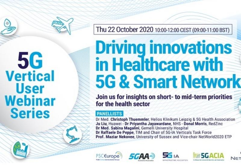 2 days left to register to the webinar on 22.10 (10 to 12 CEST) helping define short/mid-term priorities for the adoption of #5G & smart #networks in #healthcare! @Networld2020 @NHSuk @RedZincServices @NetTechEU @CYBERSECEU @MagaliniSabina @donalmorris  https://t.co/95uj8NXYZM https://t.co/cyKfTCK7Xi