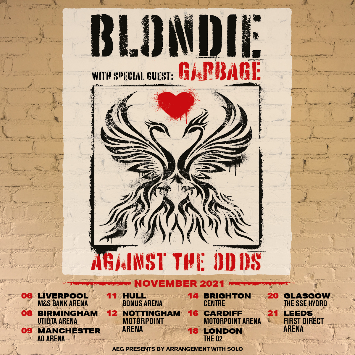 New // @BlondieOfficial have confirmed dates for a November 2021 tour w/ special guests @garbage. Tickets go on general sale 10am Friday 23rd October: https://t.co/wKCabrtPvl https://t.co/rW5wsrP449
