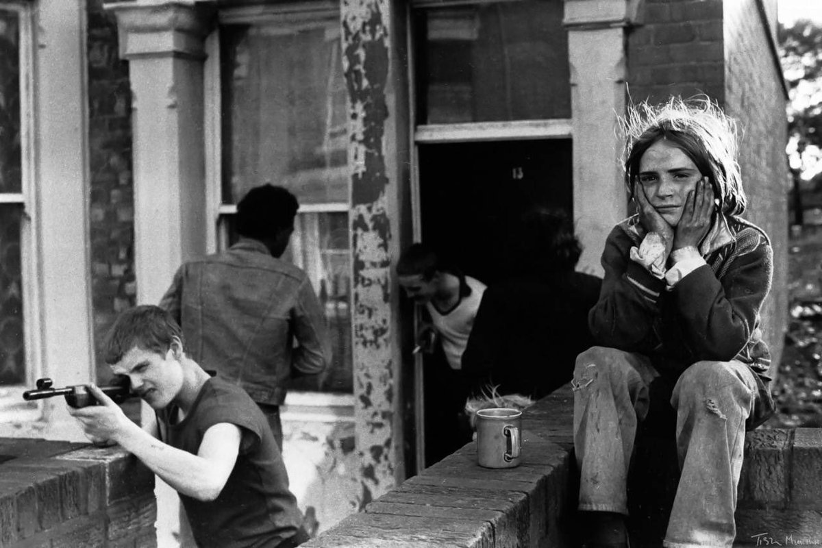 Youth unemployment, Newcastle in 1981 by @tishmurtha. It is a remarkable series by one of the most talented documentary photographers of her generation. (Photo copyright Ella Murtha, all rights reserved).