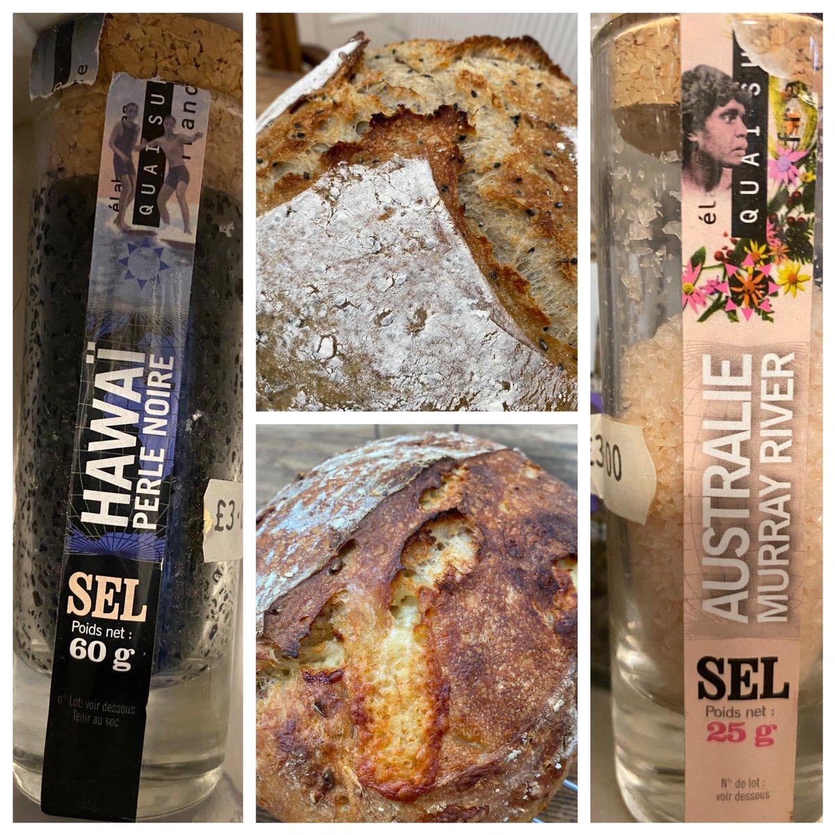 Some #sourdough #salt experimentation today #Australian #Murray #river and #Hawaiian #perle #noire #novacooksathome https://t.co/5GuxQFcuaE