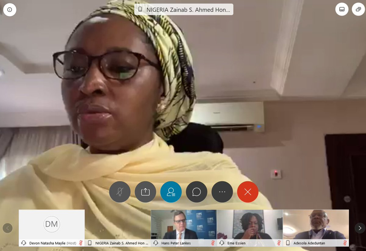 """""""The #creative industry provides a great opportunity for #job employment specially for the #youth"""" HM of  @FinMinNigeria at the virtual launch of the #Nigeria Country Private Sector Diagnostic. #NigeriaCPSD Join now: https://t.co/qFSsPYgjor https://t.co/cVBO568uMf"""