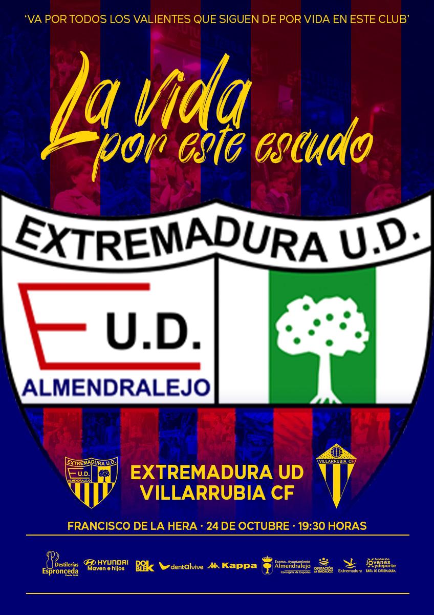 🖼 CARTEL   'La vida por este escudo'  #Jornada2  #ExtremaduraVillarrubia https://t.co/mPqYgbJ7Ym