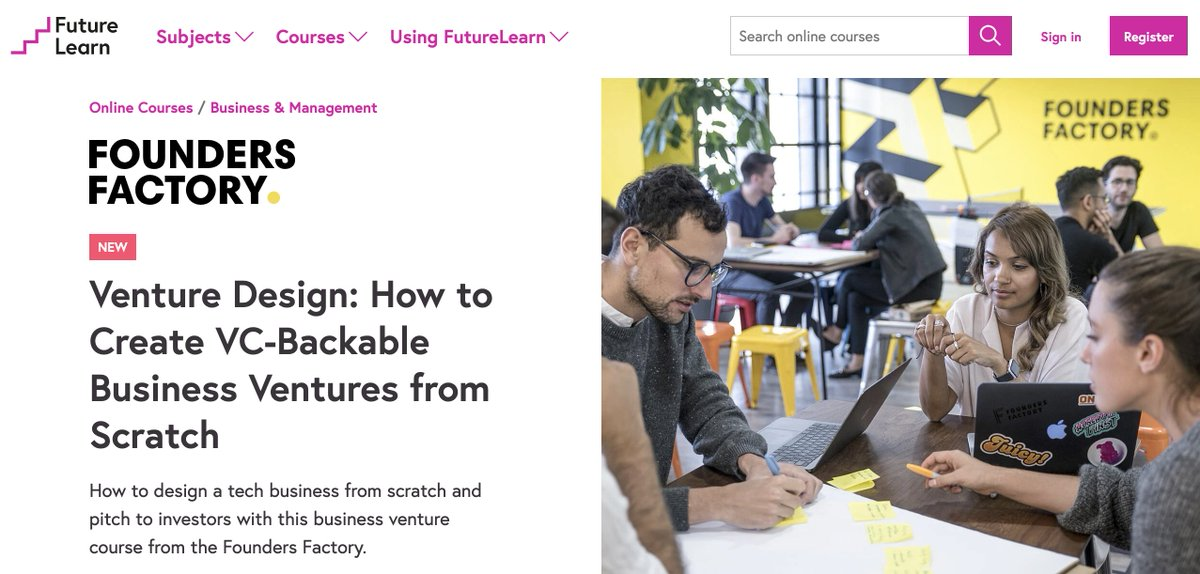 Have you ever thought about building a VC-backable business from scratch? We have collaborated with @FutureLearn to launch a new six-week course to upskill  those who want to build the next-gen of startups.  Find out more about the course and apply here: https://t.co/wQZsMSnAJ5📈 https://t.co/WFRN71zBFF