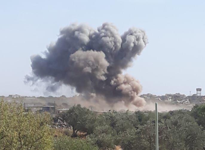 #BREAKING Russian air strikes hit Farkia and Mogara in Jabal Al-Zawiya, south of #Idlib #Syria