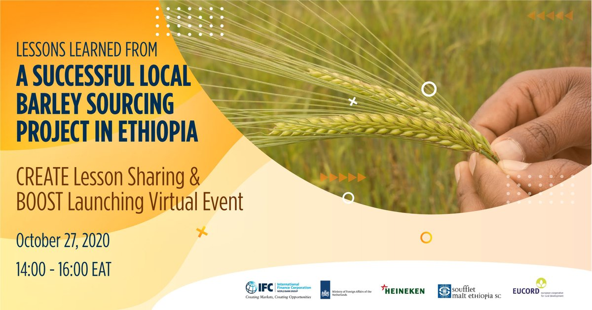#DYK that #agribusinesses can increase their local sourcing of raw materials effectively by integrating smallholder producers in their supply chains? Register to learn how 1 project is doing that in #Ethiopia: https://t.co/WIp3PC9PjH @IFC_org @eucordbxl @PreciseConsult @Heineken https://t.co/JoJV3dnjsU